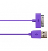 Câble Enjoy charge et synchronisation violet pour iPhone / iPod / iPad