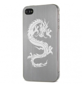 Plaque arri&egrave;re en aluminium bross&eacute; Moxie Dragon pour iPhone 4 /4S