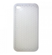 Housse silicone Blanc perfor&eacute; iPhone 4 