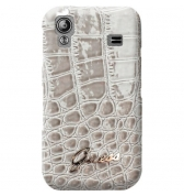 Coque rigide finition croco glossy. Beige Galaxy Ace