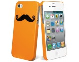  Coque Picktogram pour iPhone 4/4S - Orange/Moustache