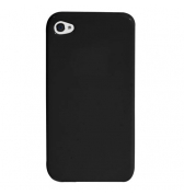 Coque silicone noire iPhone 4 