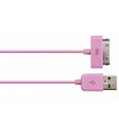 Câble Enjoy charge et synchronisation rose pour iPhone / iPod / iPad