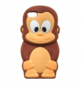Coque singe silicone marron pour iPhone 5