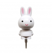 Amplificateur de son lapin blanc mini jack 3.5mm