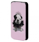 Etui à rabat Teo Jasmin Queen rose pour iPhone 4/4S