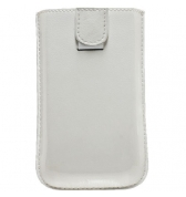 Etui de protection en cuir blanc pouch up iPhone 3g 3gs modelabs