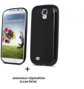 Coque minigel noire screen care Samsung Galaxy S3 i9300