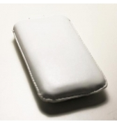 Etui vertical Blanc simili cuir Pouch Up iPhone 3g 3gs