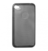 Housse silicone noir ondes iPhone 4 