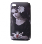Coque Manga femme bougie iPhone 4/4S