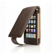Cygnett Etui cuir marron rabat lavish iphone 3g 3gs