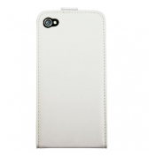 Etui cuir blanc a rabat vertical special iPhone 4/4S