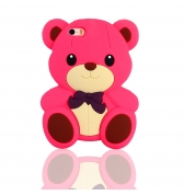 Coque ourson silicone fuschia pour iPhone 5 / 5S