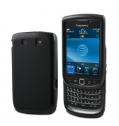 HOUSSE MINIGEL NOIRE OPAQUE COMPATIBLE  BLACKBERRY TORCH 9800/9810