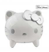 Enceinte Hi Fi Hello Kitty  Blanc et argent avec dock de charge iPhone 4/4S iPhone 3G/3GS iPod