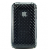 Coque housse silicone iphone diams transparente en relief 3G/3GS
