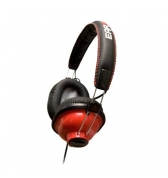 Casque stereo ferme Ifrogz Throw Bax rouge metallise