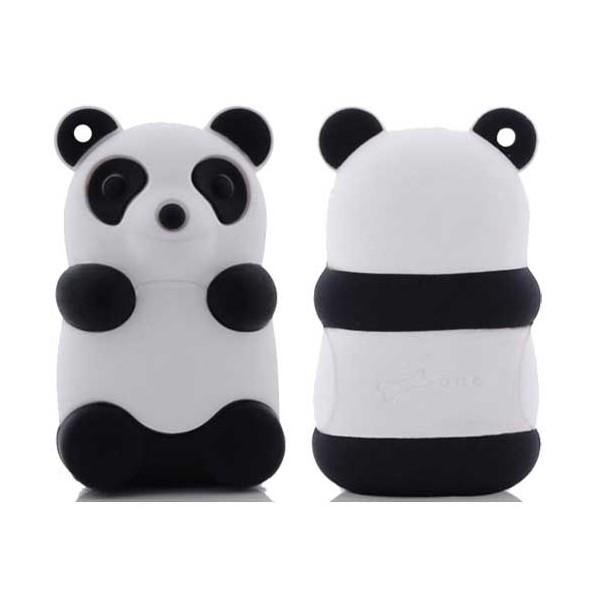cle usb bone de 4 go en forme de panda noir et blanc coquediscount. Black Bedroom Furniture Sets. Home Design Ideas