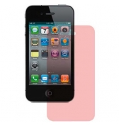Film protecteur ecran transparent rose iPhone 4/4S