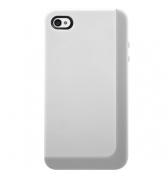 SwitchEasy Coque silicone Eclipse blanche pour iPhone 4/4S