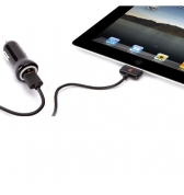 GRIFFIN PowerJolt: Chargeur auto + c&acirc;ble amovible iPad/iPhone/iPod