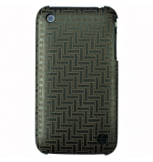 Coque Trexta cuir grav&eacute; laser weave iPhone 3G/3GS