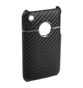 Coque carbone noire luxe contour chrome iPhone 3g 3gs