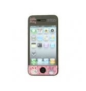 Film protège écran Hello Kitty motif lapins pour iPhone 4 / 4S