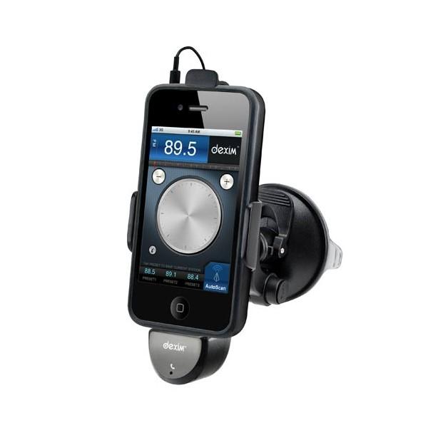 support voiture dexim icruz transmetteur fm avec allume cigare et c ble jack pour iphone. Black Bedroom Furniture Sets. Home Design Ideas