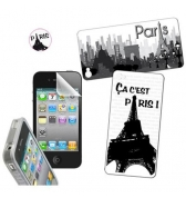 Kit protection et déco Paris pour iPhone 4 / 4S