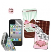 Kit protection et d&eacute;co Softy pour iPhone 4/4S